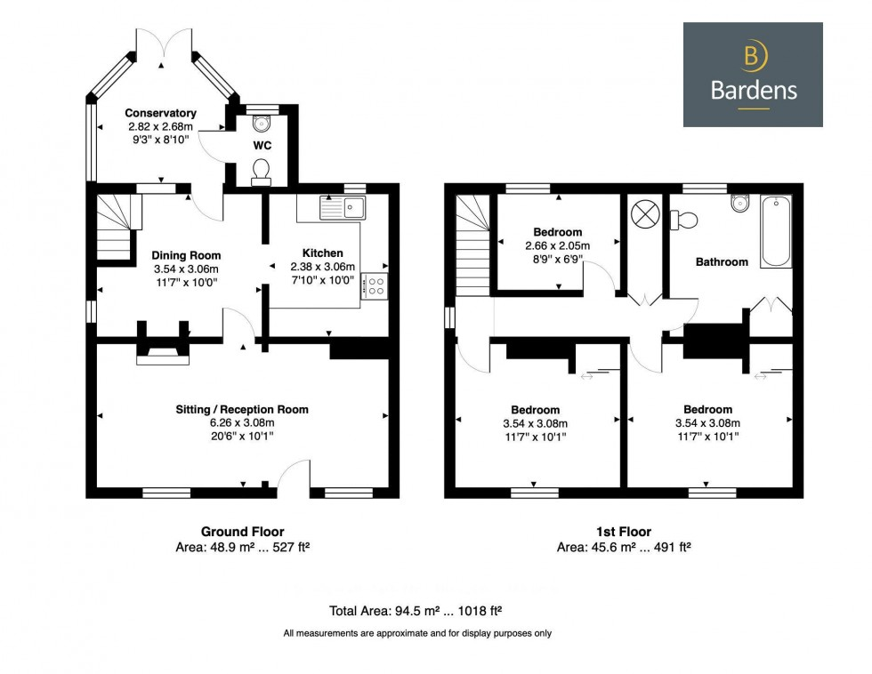 Floorplan for Charming End of Terrace 3 Bedroom Cottage, Stonewall Park Road, Tunbridge Wells