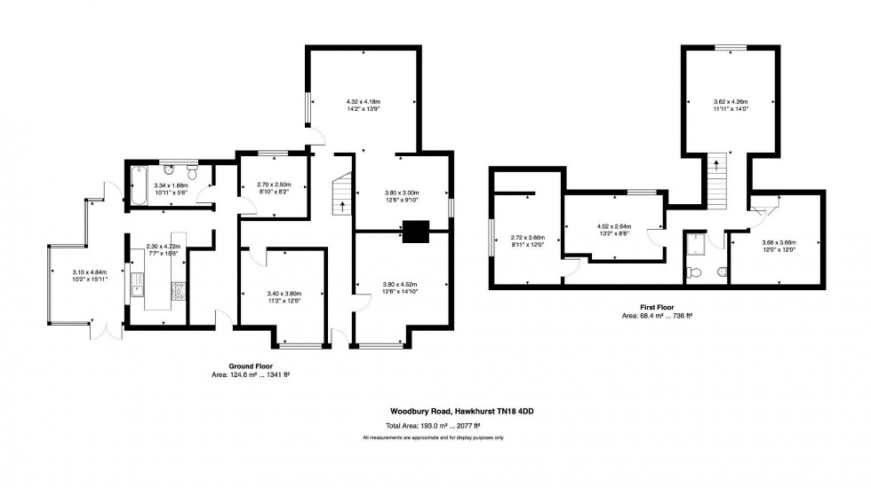Floorplan for 4 Bedroom Detached House with Development Potential, Woodbury Road, Cranbrook