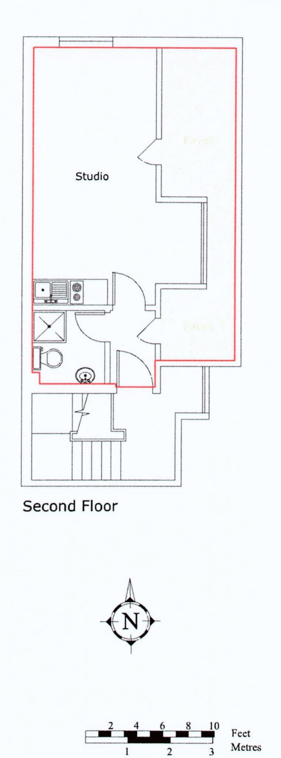 Floorplan for Studio Apartment in Sought After Langton Green Village Location, TN3 0ET